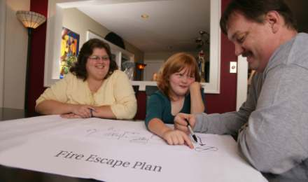 Family Creating Escape Plan