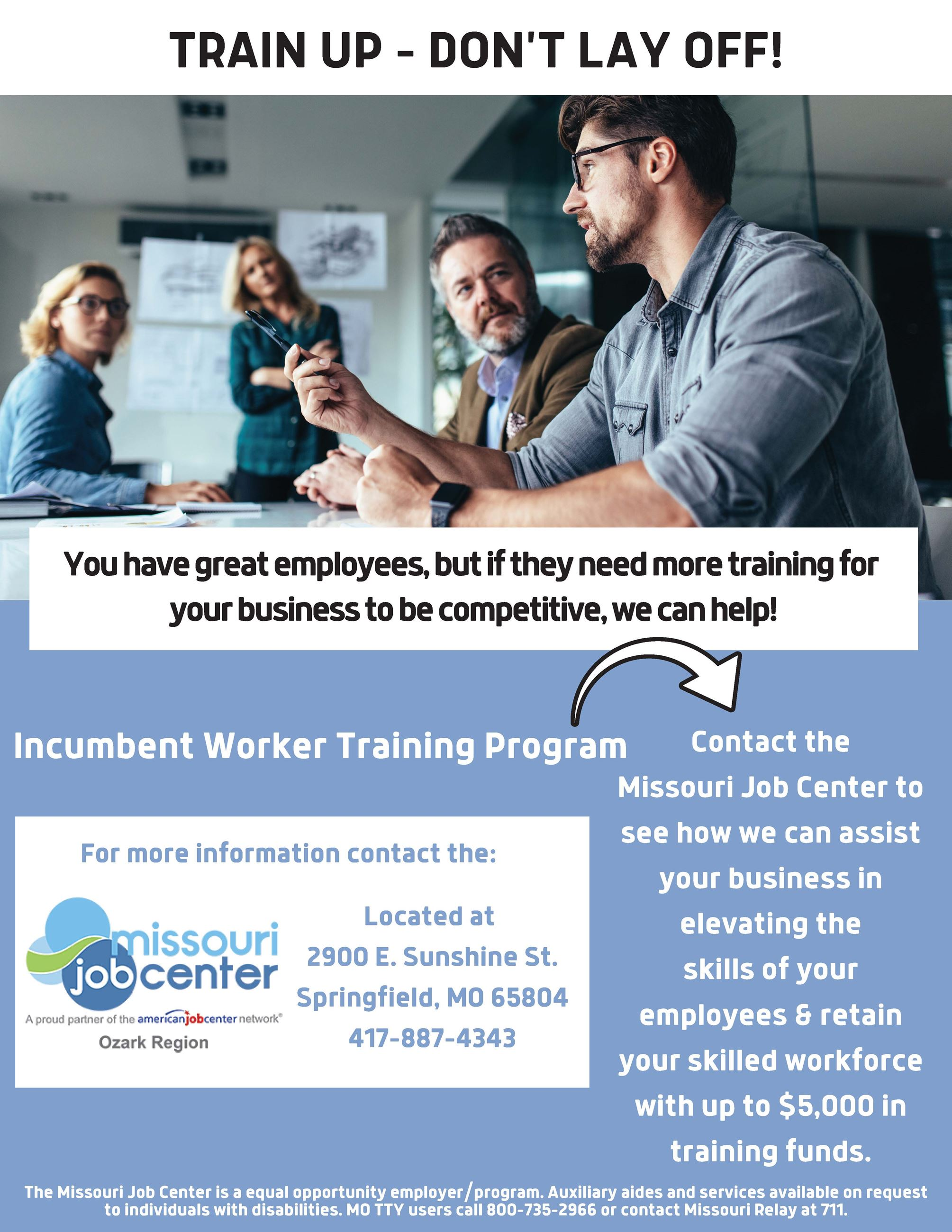 Incumbent Worker Training Flyer